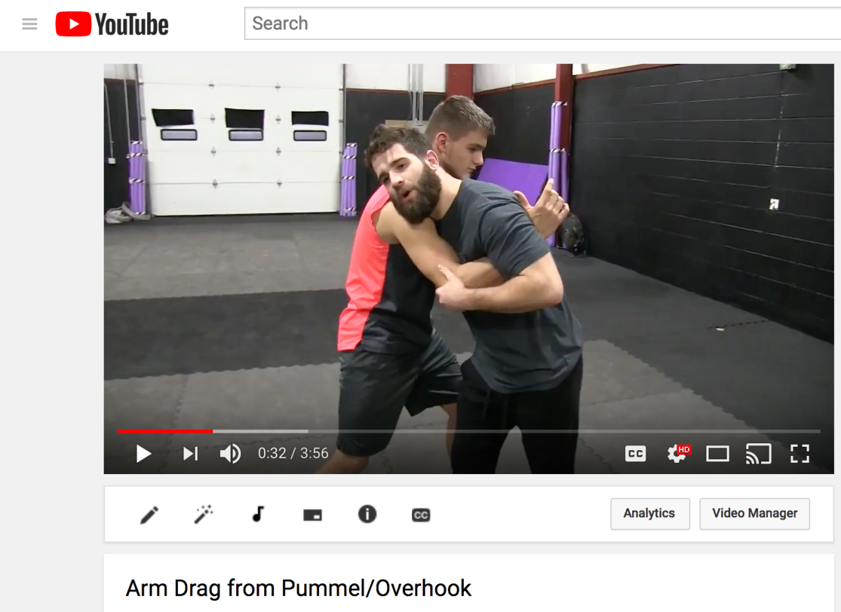 Armdrag from Pummel/Overhook